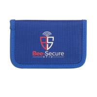 BEE-SECURE RFID Key Pouch - Polyester Blue